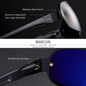 Image 3 - BARCUR Aluminum Magnesium Sunglasses Men Polarized Sun glasses for Men Pilot Sport Eyewear UV400