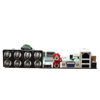 AHD CVI TVI IP CVBS 5 in1 8CH 5M-N DVR board 2CH RCA Audio IN Xmeye APP ONVIF Surveillance CCTV DVR Main board With 2 Satas HDD