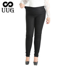 UUG 4XL 6XL 8XL 10XL Plus Size Women Pencil Pants Fashion Large Size Female Trousers Women 2017 Long Pants for Women Black Slim(China)