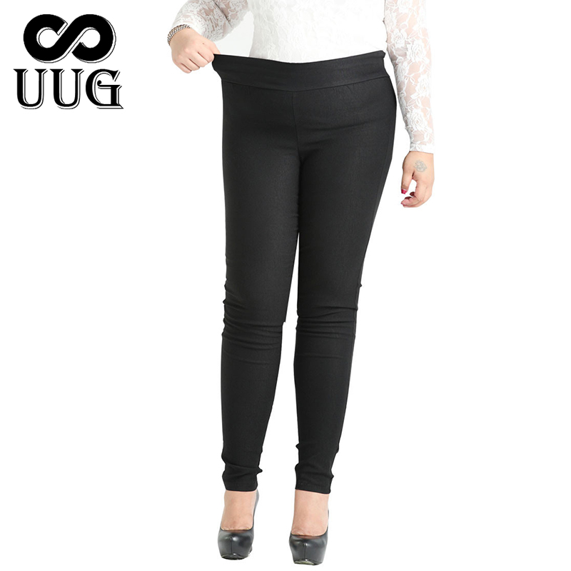 UUG  4XL 6XL 8XL 10XL Plus Size Women Pencil Pants Fashion Large Size Female Trousers Women 2017 Long Pants For Women Black Slim