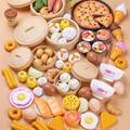 84 шт., Детские Кухонные Игрушки для завтрака и еды, миниатюрные безопасные пищевые наборы, Обучающие Классические игрушки для детей