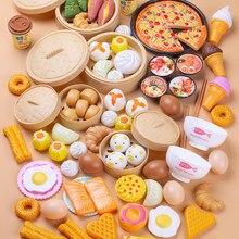 84 pçs corte de café da manhã comida fingir jogar crianças jogo de cozinha brinquedos segurança em miniatura conjuntos de alimentos educativo clássico brinquedo para crianças