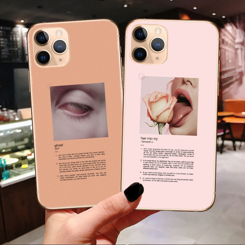 <font><b>Aesthetic</b></font> Art silicone <font><b>Phone</b></font> <font><b>Case</b></font> For <font><b>iPhones</b></font> 11 Pro MAX 2019 X 6 6s <font><b>7</b></font> 8 <font><b>Plus</b></font> XS MAX XR SE 5s Luxury Brand Cear Soft tpu Cover image