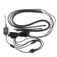 цена на High Quality Auto Lamp RGB LED Strip Under Car Tube Underglow Underbody Glow System Neon Light Remote