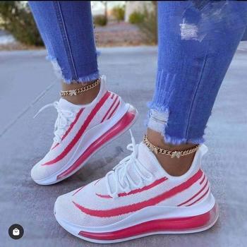 Chunky Sneakers kobiety wiosenne białe buty buty na koturnie buty 2021 wygodne siatki przypadkowi buty sportowe Zapatos Mujer Sneakers tanie i dobre opinie SONDR Siateczka (przepuszczająca powietrze) CN (pochodzenie) inny Płytkie Stałe Cotton Fabric RUBBER Na wiosnę jesień
