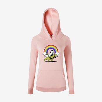 цена Women's cartoon graphic printed sweatshirt Black white pink seven colors harajuku hoodie size  S-3XL Streetwear classic онлайн в 2017 году