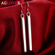 Aglover серебро 925 пробы 65 мм кубоидные Висячие серьги для