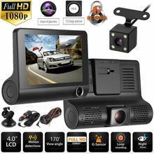 Car DVR Cameras Lens 4.0 Inch Driving recorder Camera Dual Lens With Rearview Camera Video Recorder Auto Registrator Dvrs Dash f30 dual lens car driving recorder