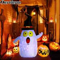 OurWarm 5x4ft Halloween Party Inflatable Pumkin Outdoor Scary Decoration Waterproof Dacron Cloth Inflatable Halloween Decoration