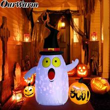 OurWarm 5x4ft Halloween Party Inflatable Pumkin Outdoor Scary Decoration Waterproof Dacron Cloth