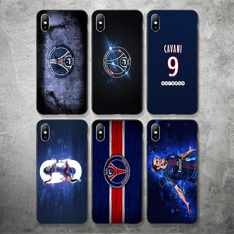 Yinuoda Phone Case For PSG FC Cavani iPhone Case Shell DIY Picture Black Soft TPU Cover For X XR XS MAX 7 8 7plus 6 6S 5S 5 in Half wrapped Cases from Cellphones Telecommunications