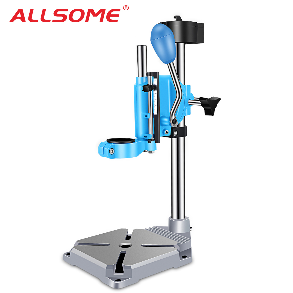 ALLSOME Drill Press Stand Bench For Electric Power Drill Iron Base Workbench Clamp For Drilling