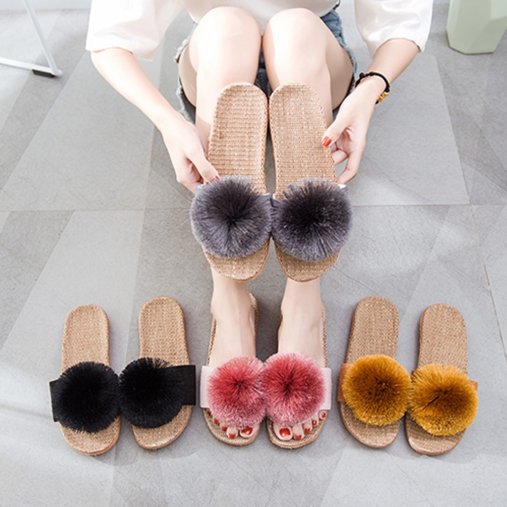 Slippers For Women Summer Hariball Shoes Beach Slides House Flat Slippers Ladies Sliders Shoes Pantoufle Femme 2020 L2