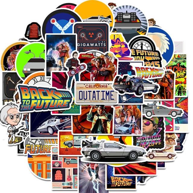 50Pcs Film Zurück In Die Zukunft Aufkleber Pack Für Auf Die Laptop Kühlschrank Telefon Skateboard Reise Koffer Aufkleber