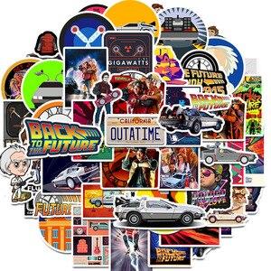 Image 1 - 50Pcs סרט בחזרה לעתיד מדבקות חבילה עבור על מחשב נייד מקרר טלפון סקייטבורד נסיעות מזוודה מדבקה