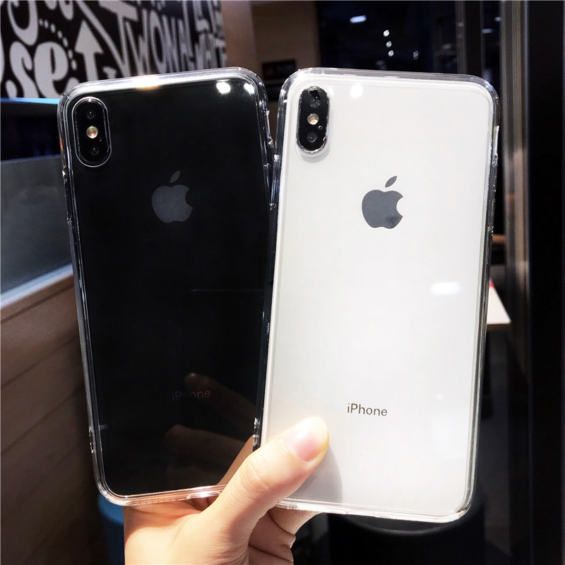 Tempered Glass Case For iPhone 7 8 Plus Transparent Clear Cover TPU Cases For iphone 6 6s Plus X XR XS MAX For iphone 11 Pro Max