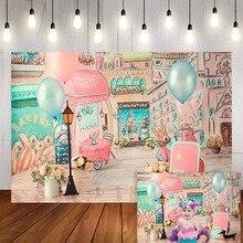 Mehofond fotoğraf arka plan şeker çubuğu balonlar köpek fırın doğum günü partisi bebek duş zemin Photophone photocall fotoğraf