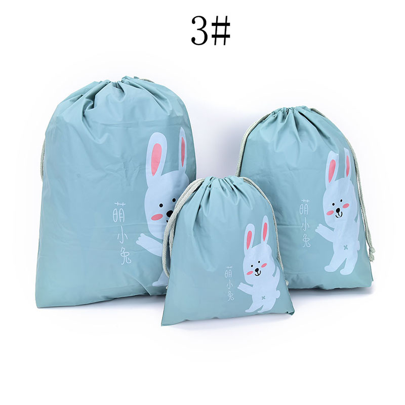 1 Set (3pcs)of Cloth Bag Shoe Bag Travel Storage Pouch Drawstring Dust Bags PEVA