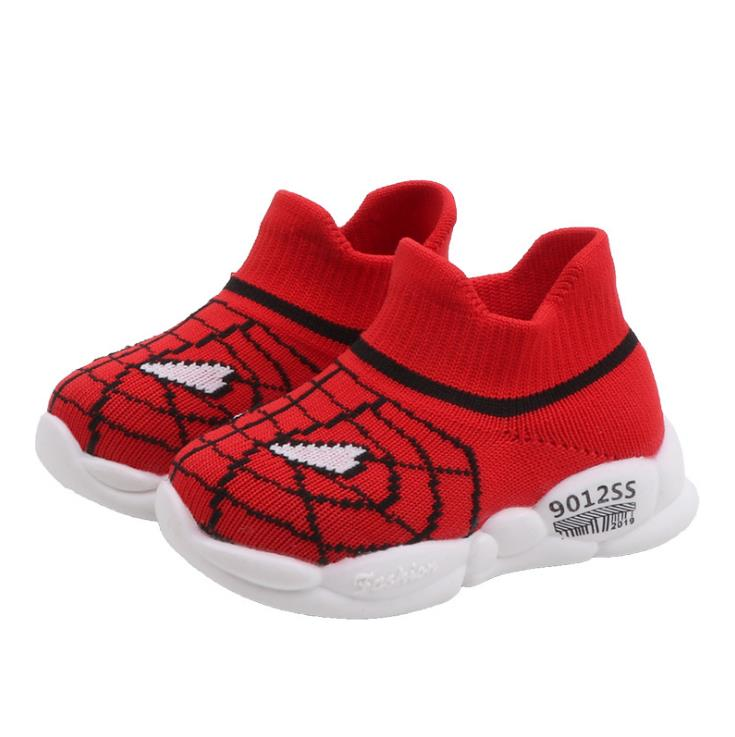 Baby Girls Boys Spider Web Toddler Shoes Non-slip Soft Bottom Shoes Floor Knitting Shoes 3color 0-2years 15-19 909 TX09
