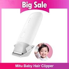 Xiaomi Mitu bebek saç kesme giyotin USB şarj edilebilir güvenli IPX7 su geçirmez elektrikli sessiz Motor çocuklar bebek ev saç jilet