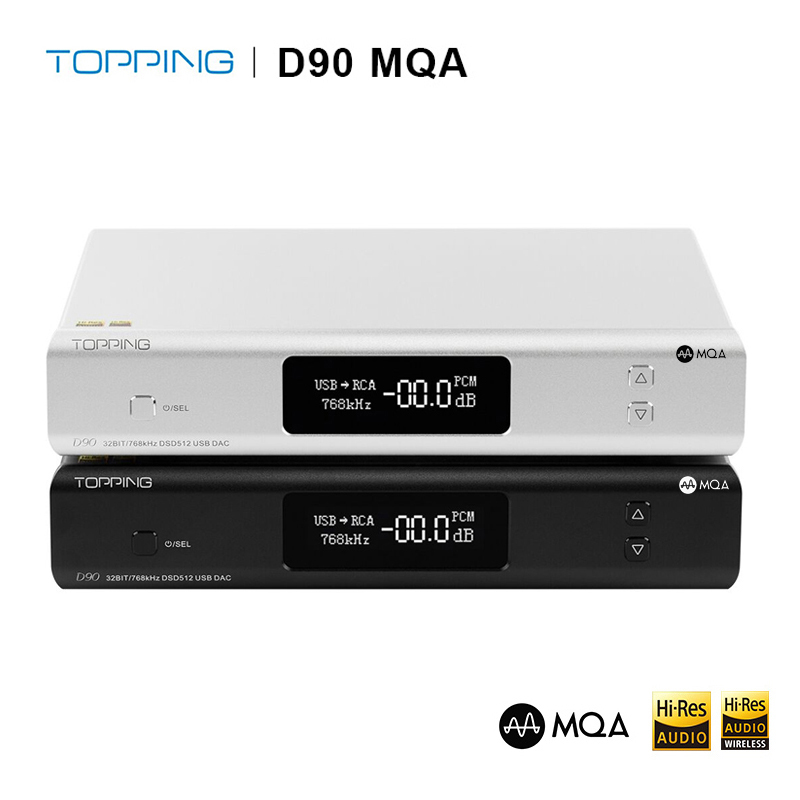 TOPPING D90 MQA+TOPPING A90,A90 Amplifier headphone amp,Topping D90 MQA USB DAC image