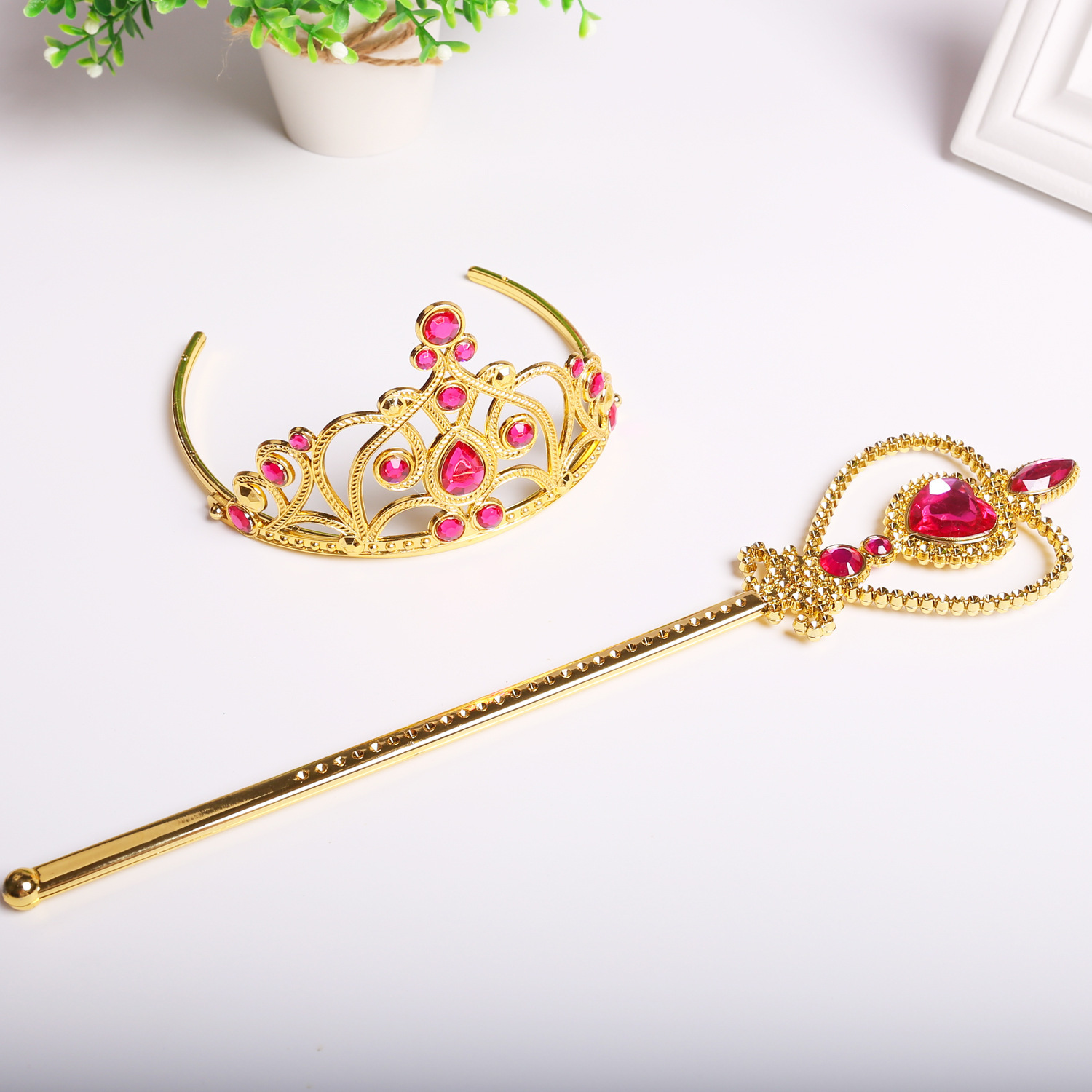 Children's Role Play Princess Crown Magic Wand Princess Party Props