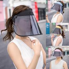 Cap Sun-Visor Brim Anti-Uv Wide Women Summer Topless Detachable Outdoor-Hat