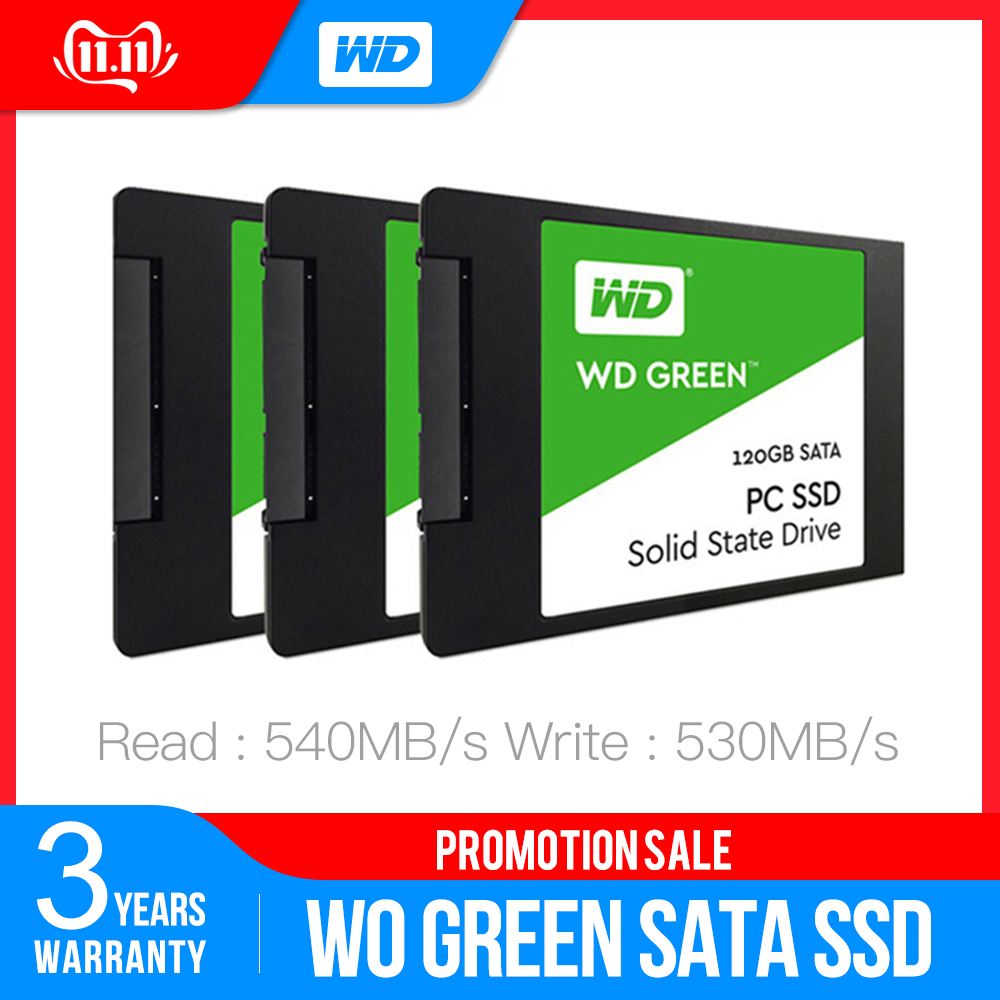 Western Digital WD SSD GREEN PC 120GB 240GB 480GB Internal Solid State Drive  Sabit Hard Disk SATA3 6GB/s For Laptop
