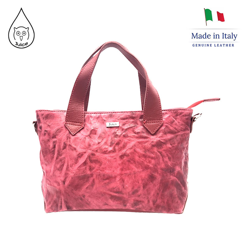 Juice Brand, Genuine Leather Bag Made In Italy, Casual Shoulder Handbag J803.412