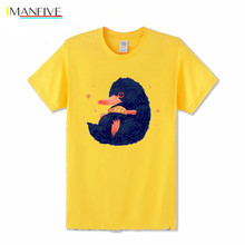 Niffler Movie Creative Design Beast's Treasure T-Shirt Men Movie Fantastic Beasts and Where To Find Them T Shirt Cool Top Tees fantastic beasts and where to find them magical movie handbook