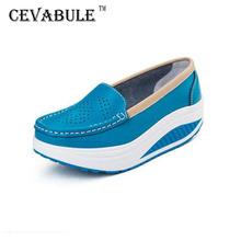 Pompy kobieta buty letnie prawdziwej skóry wycinanka oddychająca huśtawka buty białe buty pielęgniarskie kliny podnieś buty dla matek SPP-8013 tanie tanio cevabule Skóra bydlęca Lato Niska (1 cm-3 cm) Pasuje prawda na wymiar weź swój normalny rozmiar Slip-on Stałe Szycia