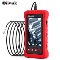 Oiiwak 3.9mm Borescope Inspection Camera with Light 1080P HD Video 4.3 Inch Digital Screen IP68 Waterproof Industrial Endoscope