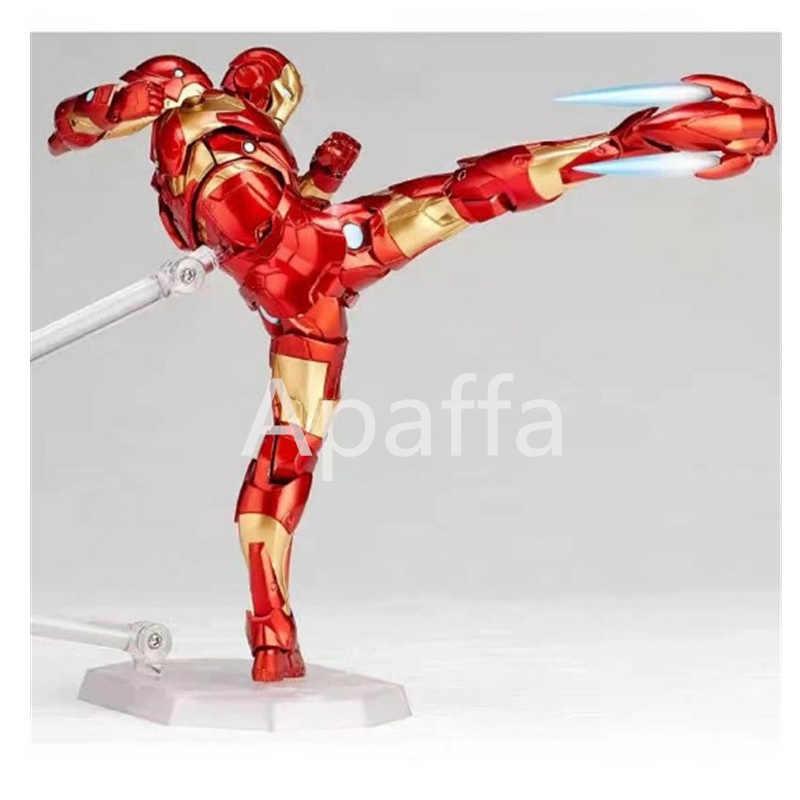 Marvel demir adam Avengers MK37 kanama kenar zırh Action Figure koleksiyon ToyAmazing Yamaguchi Revoltech No 013 demir adam