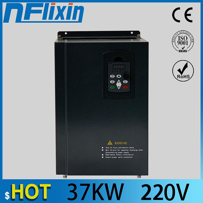 37KW/1 Phase input 220V/130A Frequency Inverter--Free Shipping-Vector control 50HP Frequency Drive/ Vfd 37kW/ 3 phase output