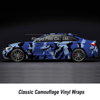 blue Camo Vinyl sticker Car Styling Camouflage Vinyl Wrap Camo Vinyl Car Wrap Air Drain Vehicle Wraps 5m/10m/15m/20m/25m/30m