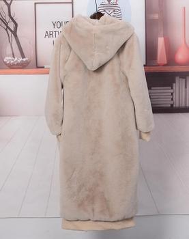 Oversized Winter Faux Fur Coat Women Parka Long Warm Faux Fur Jacket Coats Hoodies Loose Winter Coat Outwear casaco feminino 12