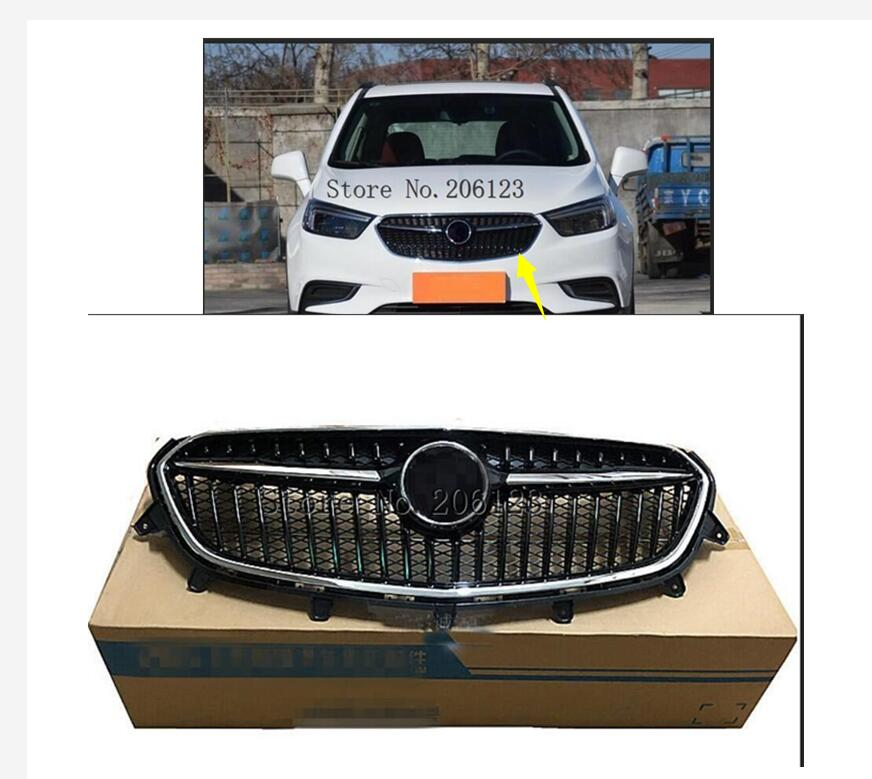 Chrome Front Upper Bumper Hood Radiator Grill Grille New Fit For Buick Encore 2017-2018 1PC With logo