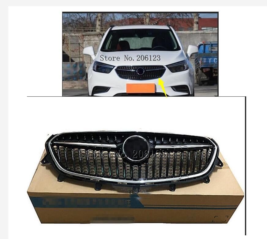 Cromado frente parachoques superior radiador parrilla nuevo ajuste para Buick Encore 2017-2018 1PC con logotipo