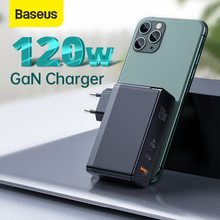 Baseus GaN Charger 120W Fast Charging USB C PD Charger QC4.0 QC3.0 Quick Charge USB Charger ForMacbook ForiP For Laptop Tablet