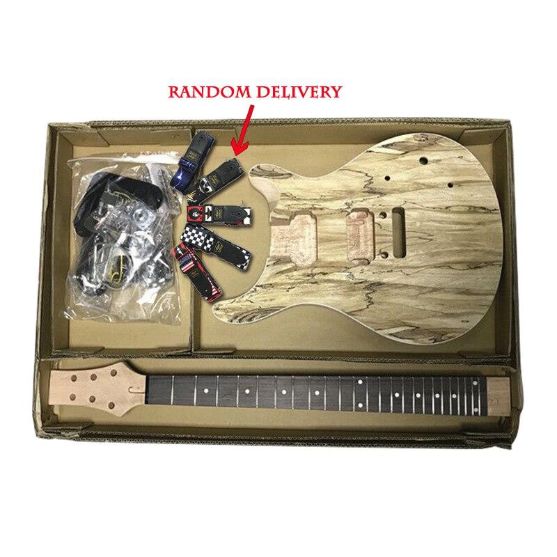 Corps en acajou massif non fini bricolage PRS Kits de guitare électrique avec tous les matériels