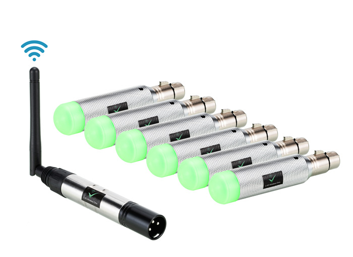 Rechargeable Batteries-Wireless DMX512 Transceiver DMX Signal Transmitter Wireless Transmission Signal