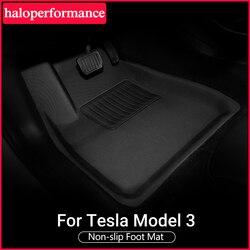 TPE под заказ подходят Всепогодные коврики для Tesla модель 3 коврики для ног три модели противогрязевые защитные коврики модель Y аксессуары