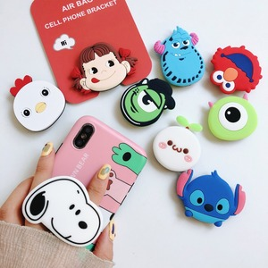 Image 5 - Universal Socket Phone Stand Bracket Expanding Stand Stretch Grip Phone Holder Finger Cute Cartoon Stand for Iphone 6s 7 8 X XS