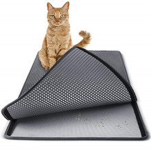 EVA Double Layer Pet Cat Litter Mat Waterproof  Trapping Clean Pad Products For Cats Accessories