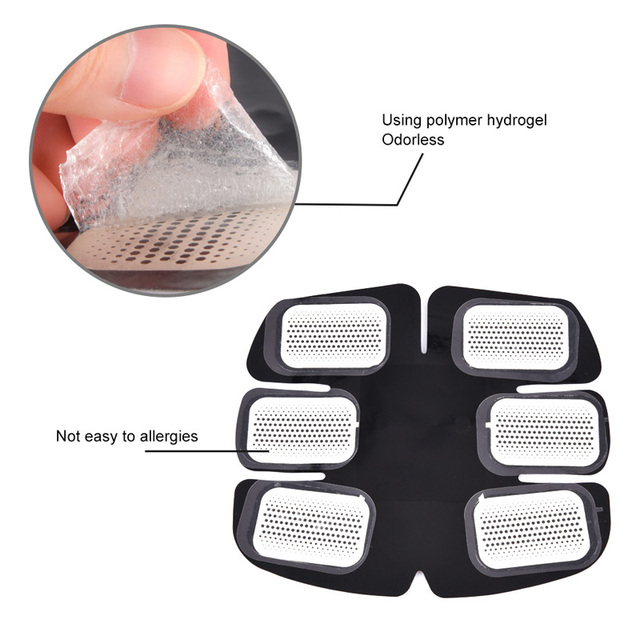 15/30/50/100Pair Replacement Gel Pads For EMS Trainer Weight Loss Abdominal Muscle Stimulator Exerciser Replacement Massage Gel 3
