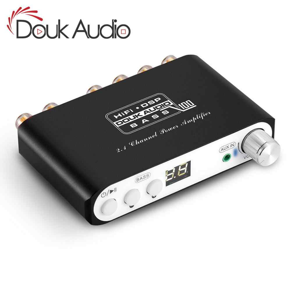 Douk audio Bluetooth DSP Digital Power Amplifier 2.1 Channel Subwoofer Bass Class D Mini Hi-Fi Amp Audio Receiver