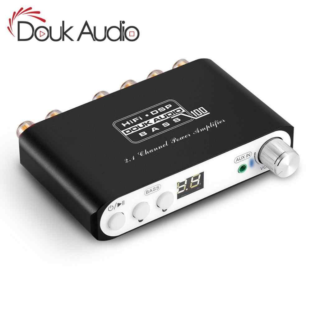 Douk Audio Bluetooth DSP Digital Power Amplifier 2.1 Channel Subwoofer Bass Kelas D Mini Hi-fi Amp Audio Receiver