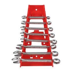 1 Pc 9 Slot Wrench Holder Rode Plastic Wrench Rack Standaard Organizer Houder Opslag Tool Sleutels Keeper Wrench Rack Organisatoren