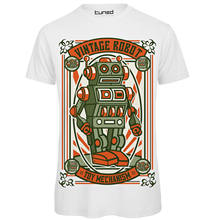 T-Shirt Divertente Uomo Maglietta Con Stampa Nerd Geek Vintage Robot Tuned 100% Cotton Men T Shirt Tees Custom(China)