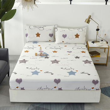 Fixed Bedspread Mattress Cover Solid And Durable Dustproof Protect Pure Cotton Fitted Bedding Sheet Singleton Antislip image